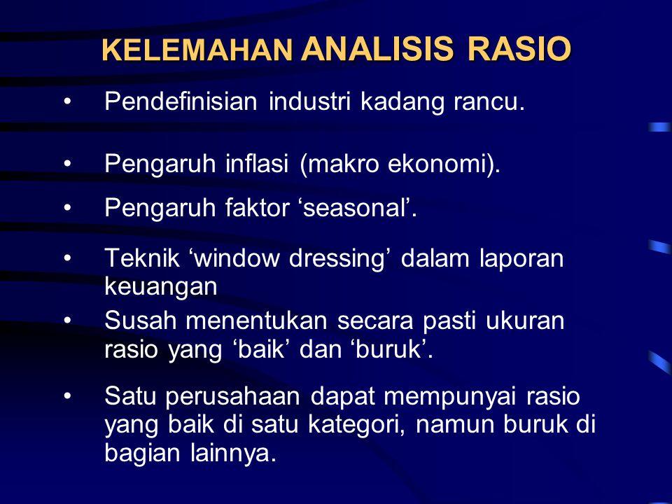KELEMAHAN ANALISIS RASIO