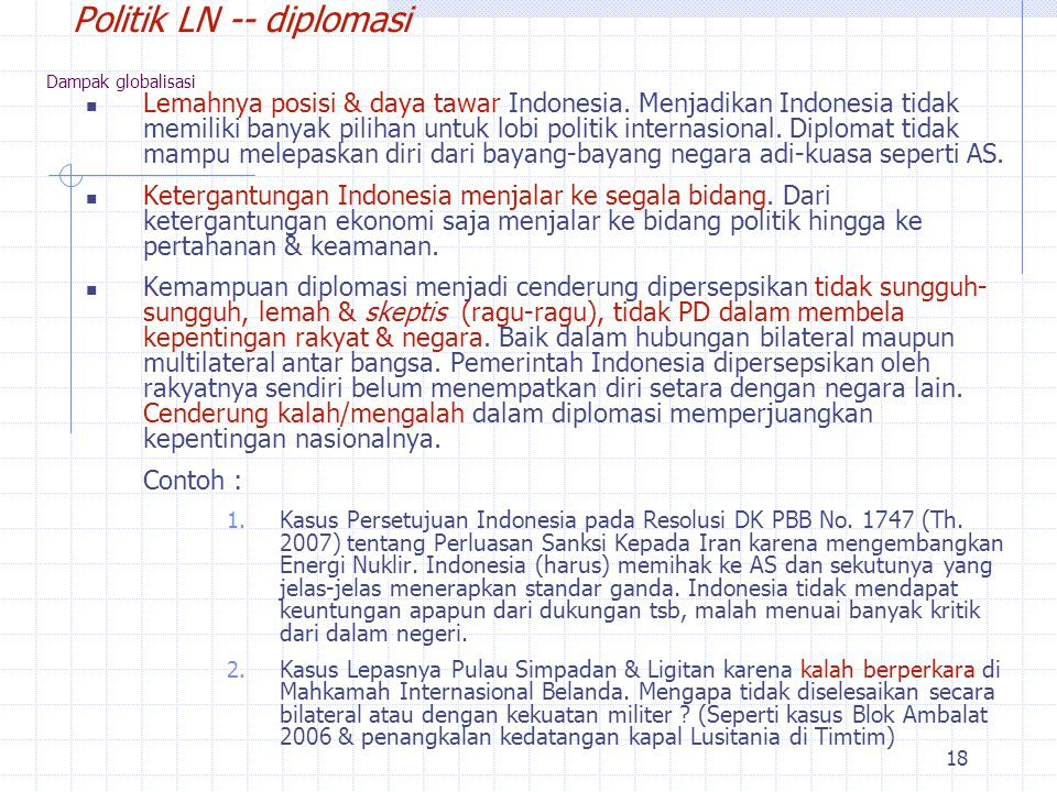 Politik LN -- diplomasi