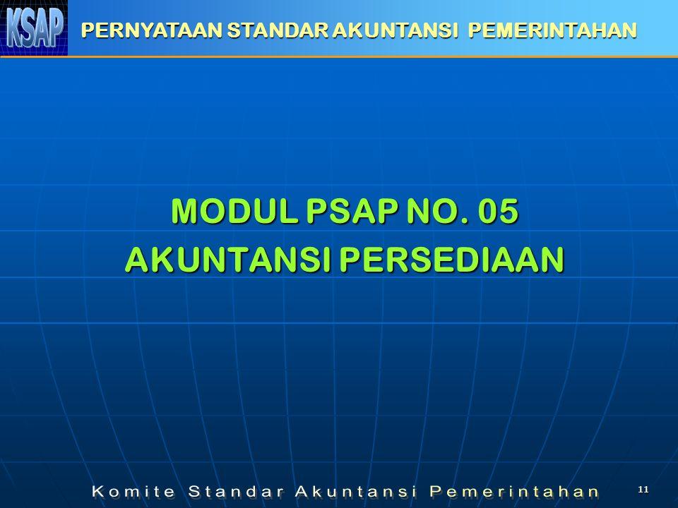 MODUL PSAP NO. 05 AKUNTANSI PERSEDIAAN