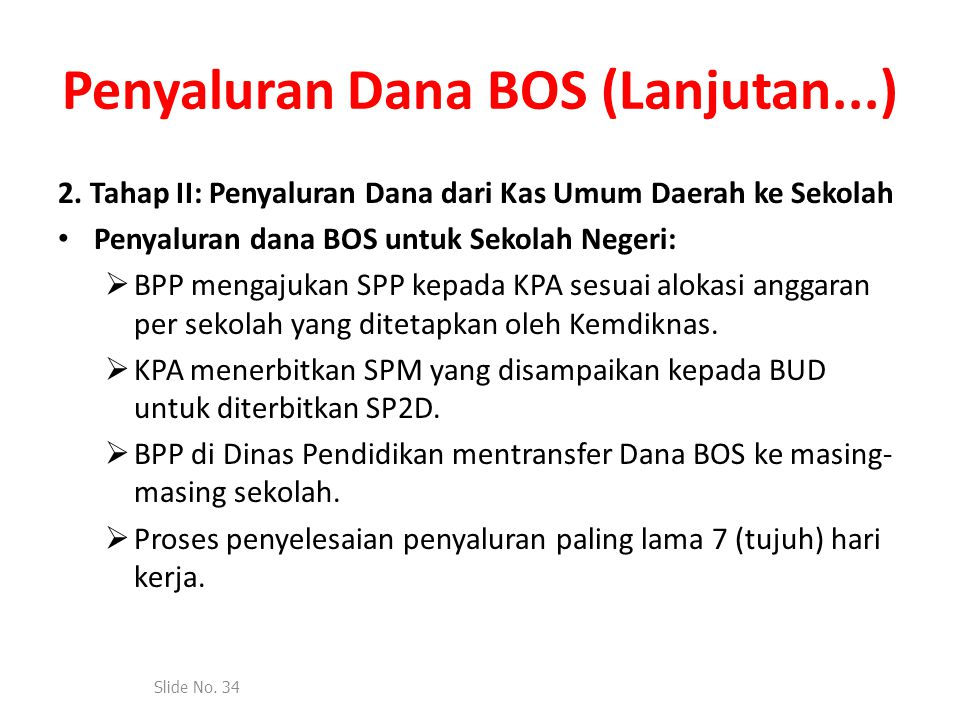 Penyaluran Dana BOS (Lanjutan...)