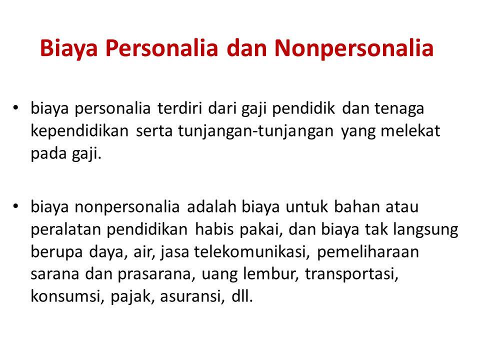 Biaya Personalia dan Nonpersonalia