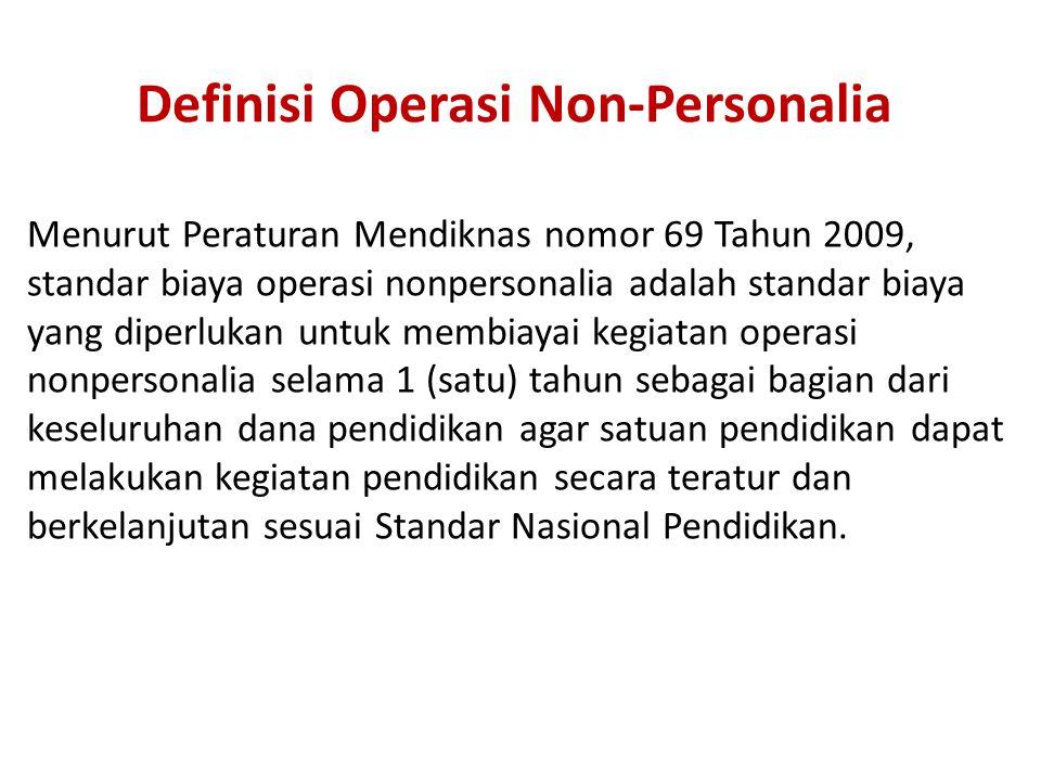Definisi Operasi Non-Personalia