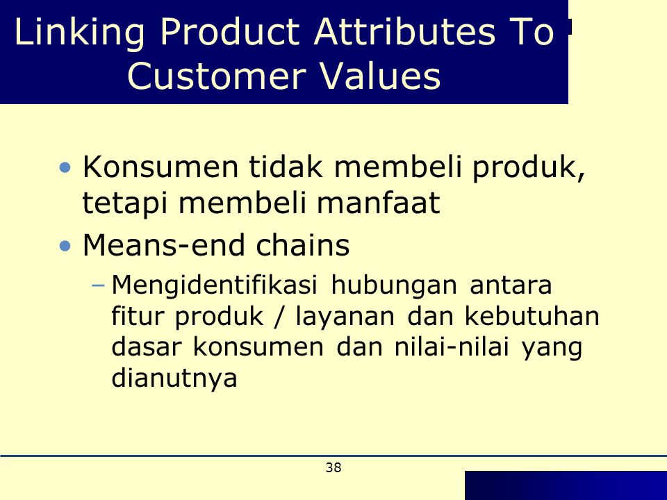 Linking Product Attributes To Customer Values