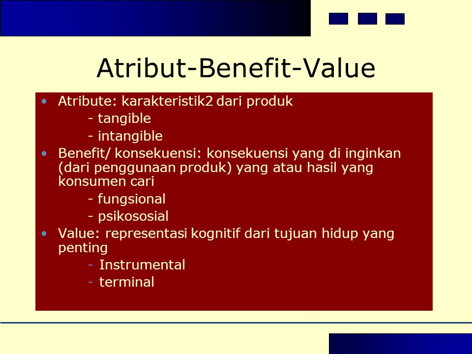 Atribut-Benefit-Value
