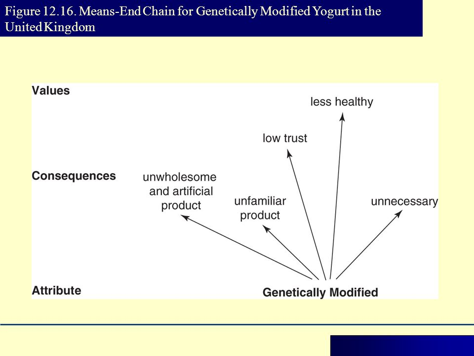 Figure Means-End Chain for Genetically Modified Yogurt in the United Kingdom