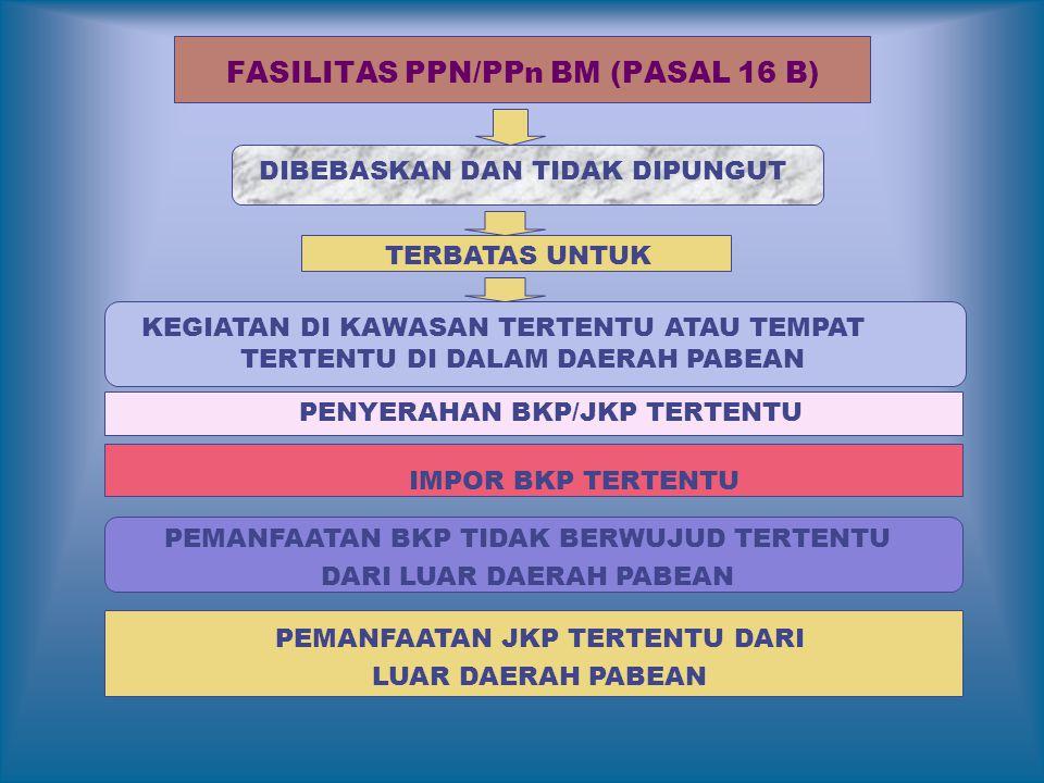 FASILITAS PPN/PPn BM (PASAL 16 B)