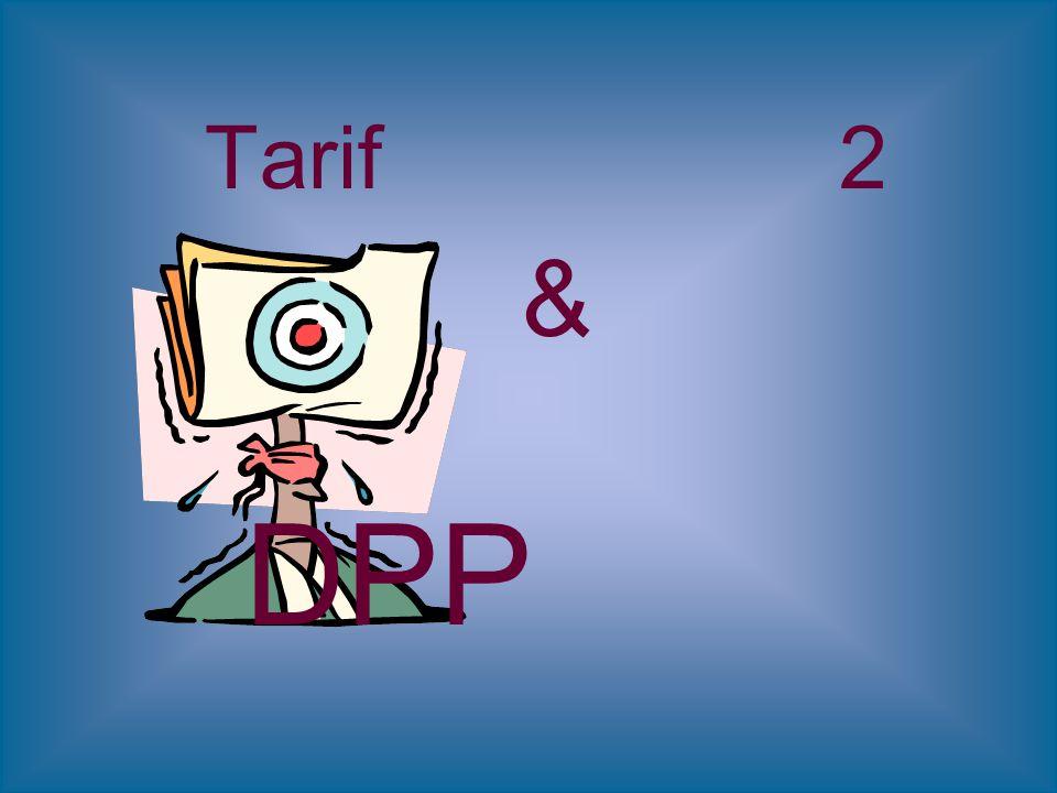 Tarif 2 & DPP