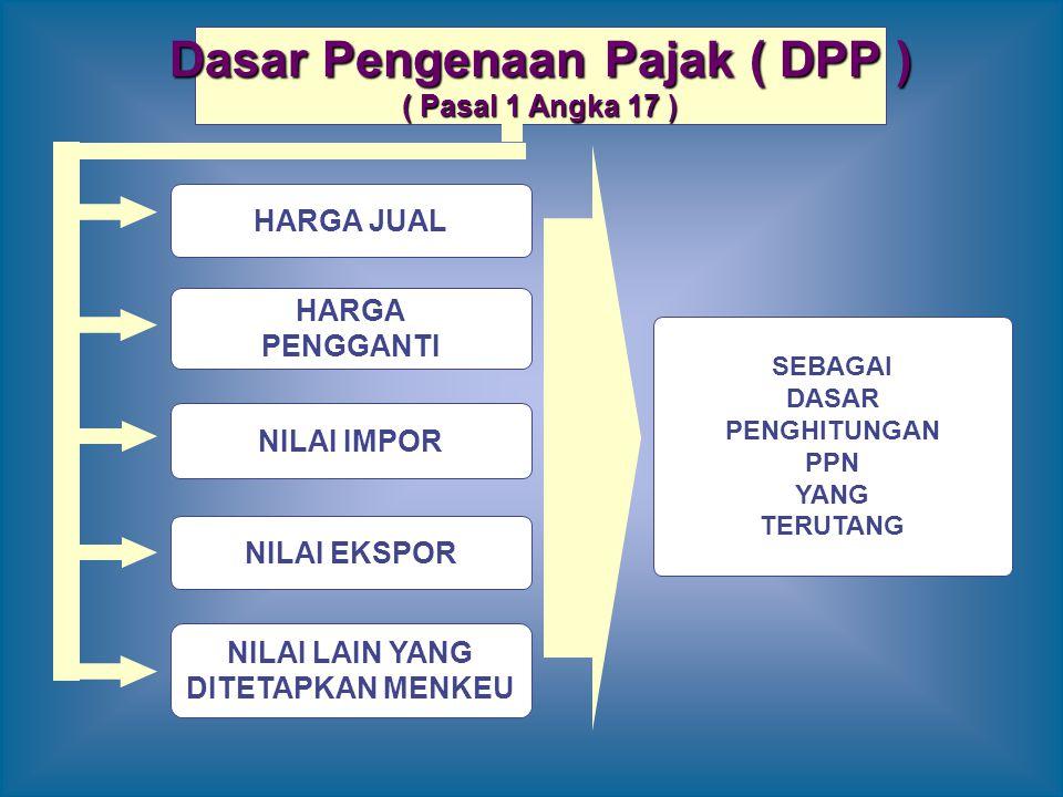 Dasar Pengenaan Pajak ( DPP )