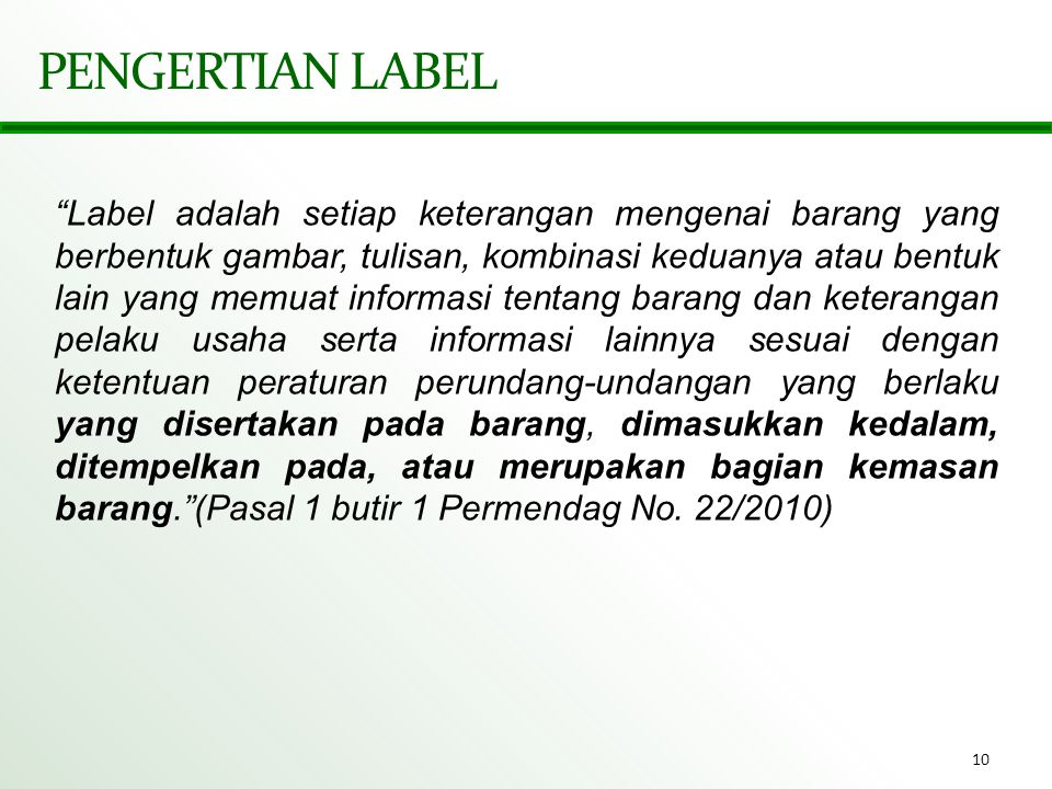 PENGERTIAN LABEL