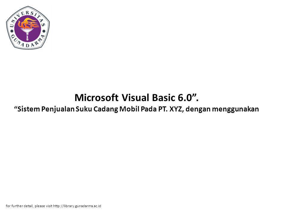 Microsoft Visual Basic 6. 0