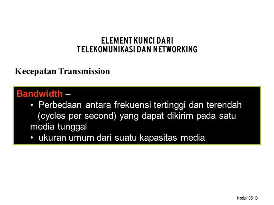 ELEMENT KUNCI DARI TELEKOMUNIKASI DAN NETWORKING