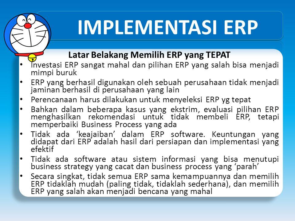 Latar Belakang Memilih ERP yang TEPAT