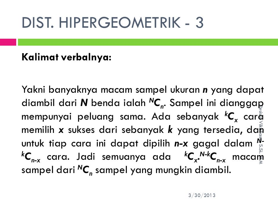DIST. HIPERGEOMETRIK - 3