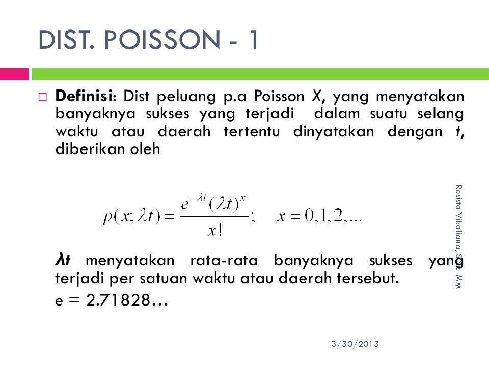 DIST. POISSON - 1
