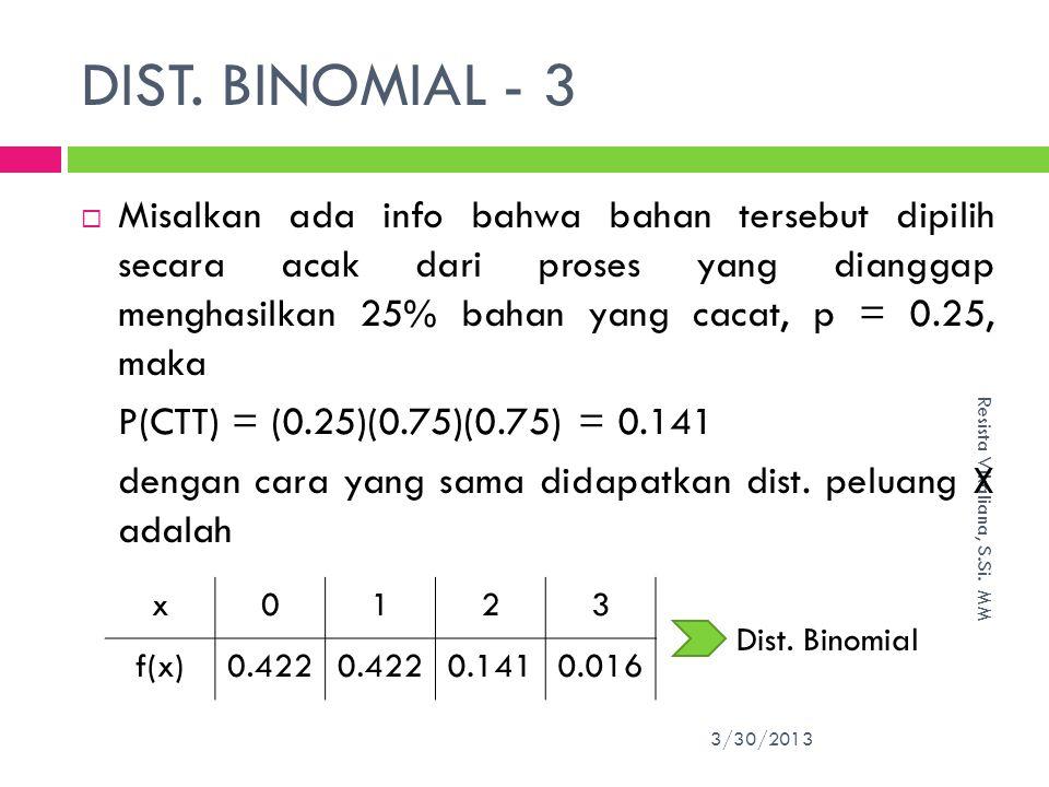 DIST. BINOMIAL - 3