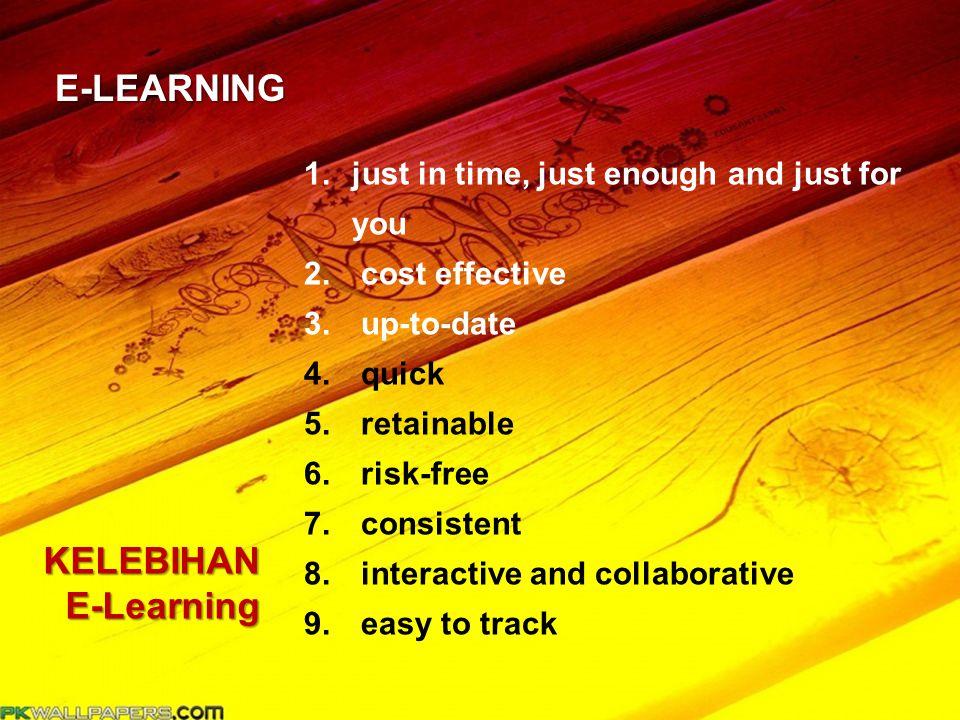 E-LEARNING KELEBIHAN E-Learning