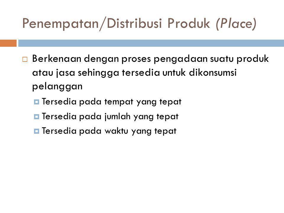 Penempatan/Distribusi Produk (Place)