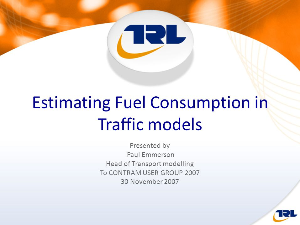 Estimating Fuel Consumption in Traffic models