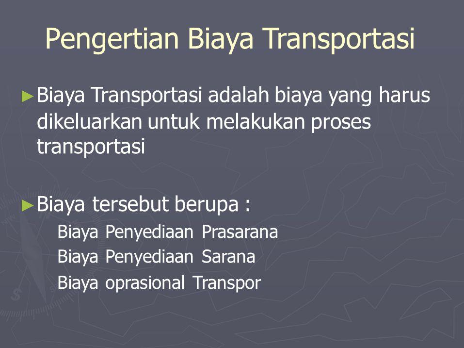 Pengertian Biaya Transportasi