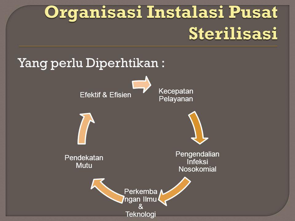 Organisasi Instalasi Pusat Sterilisasi