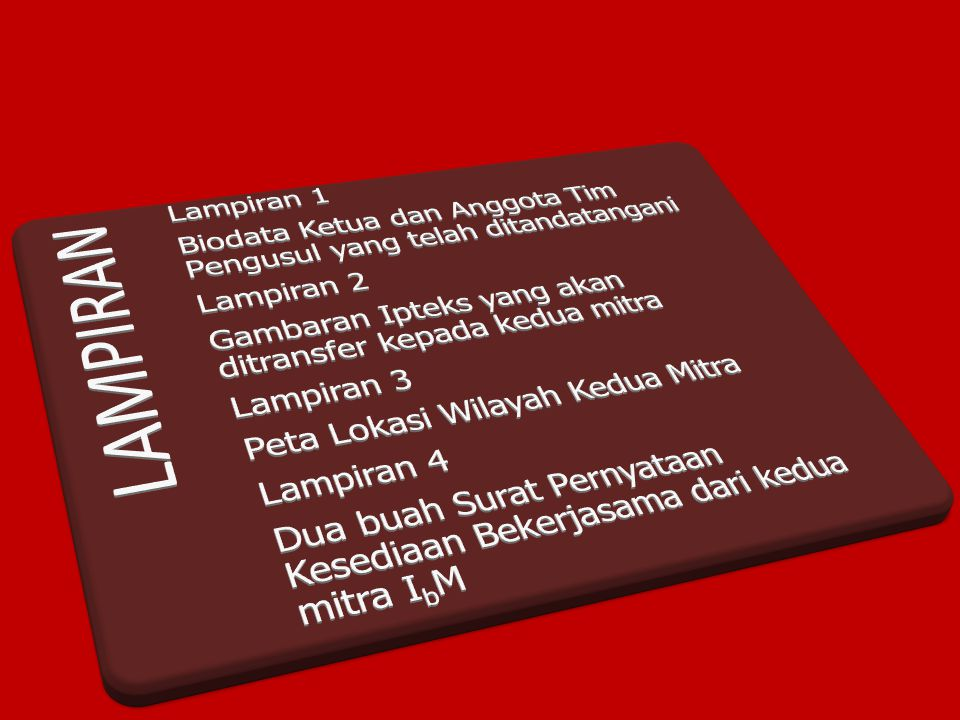 LAMPIRAN Lampiran 1 Biodata Ketua dan Anggota Tim Pengusul yang telah ditandatangani.