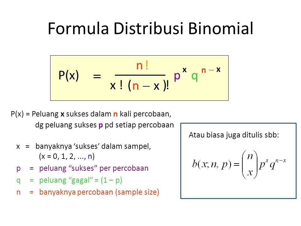 Formula Distribusi Binomial