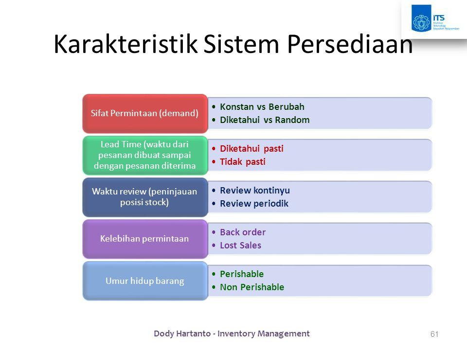 Karakteristik Sistem Persediaan