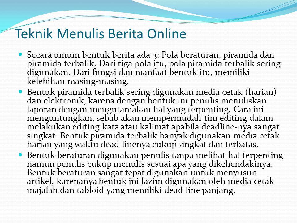 Teknik Menulis Berita Online