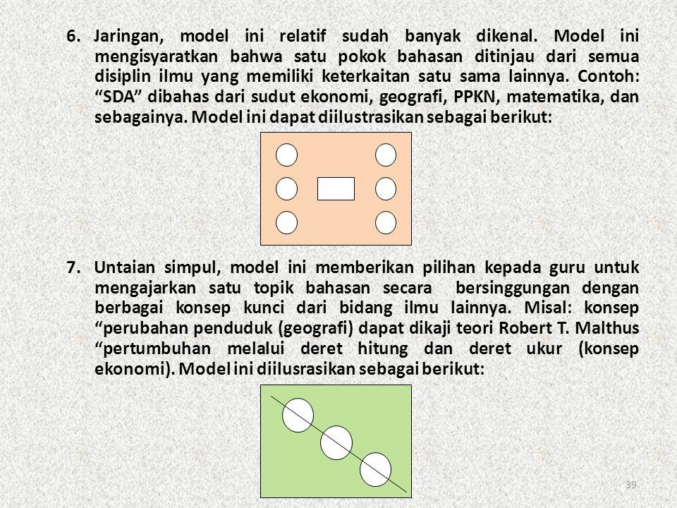 6. Jaringan, model ini relatif sudah banyak dikenal