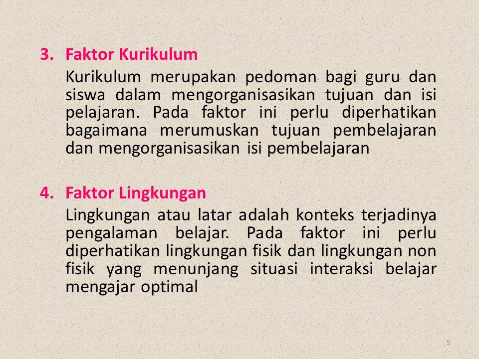 3. Faktor Kurikulum