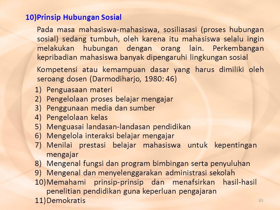 10) Prinsip Hubungan Sosial