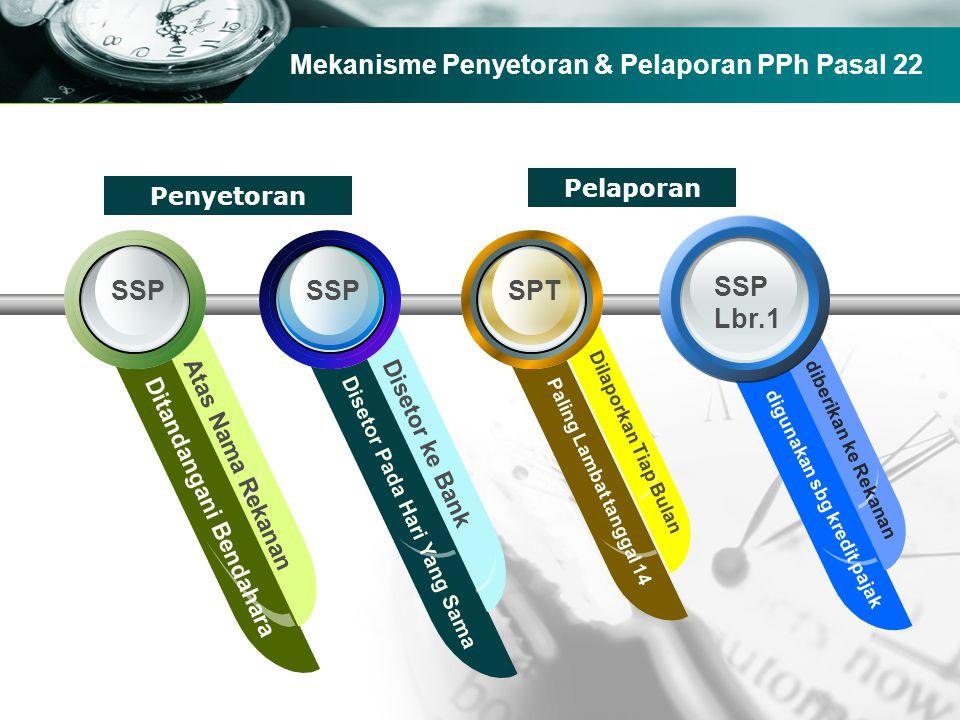 Mekanisme Penyetoran & Pelaporan PPh Pasal 22
