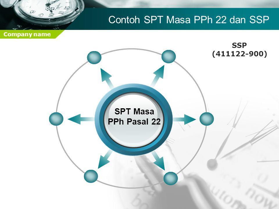 Contoh SPT Masa PPh 22 dan SSP