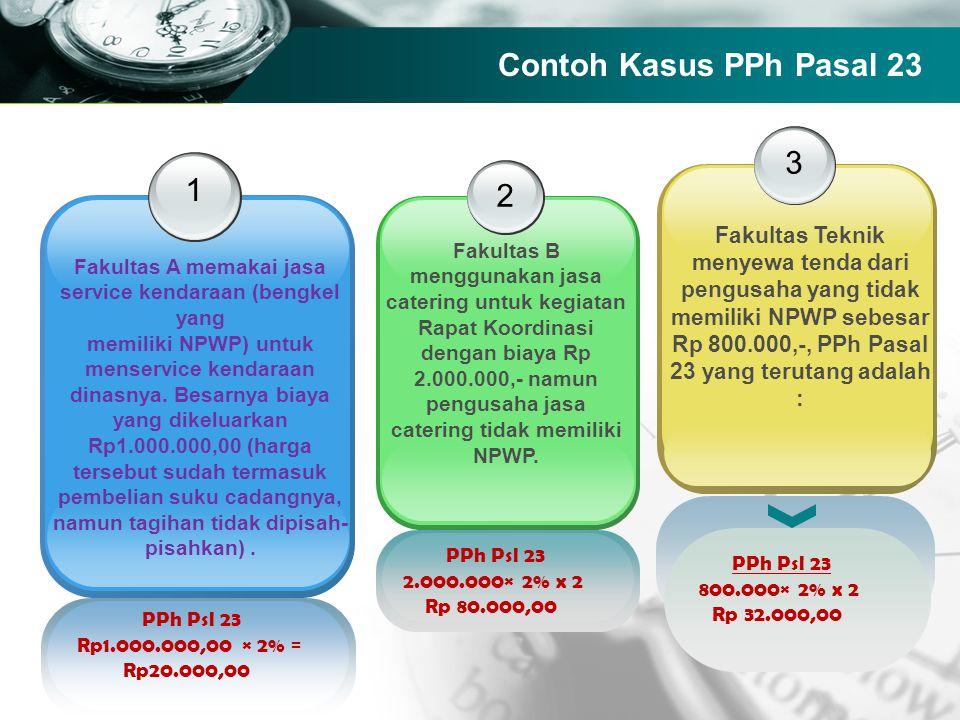 Contoh Kasus PPh Pasal 23 3. 1. 2.