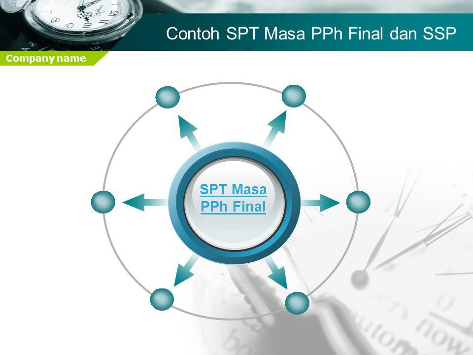 Contoh SPT Masa PPh Final dan SSP