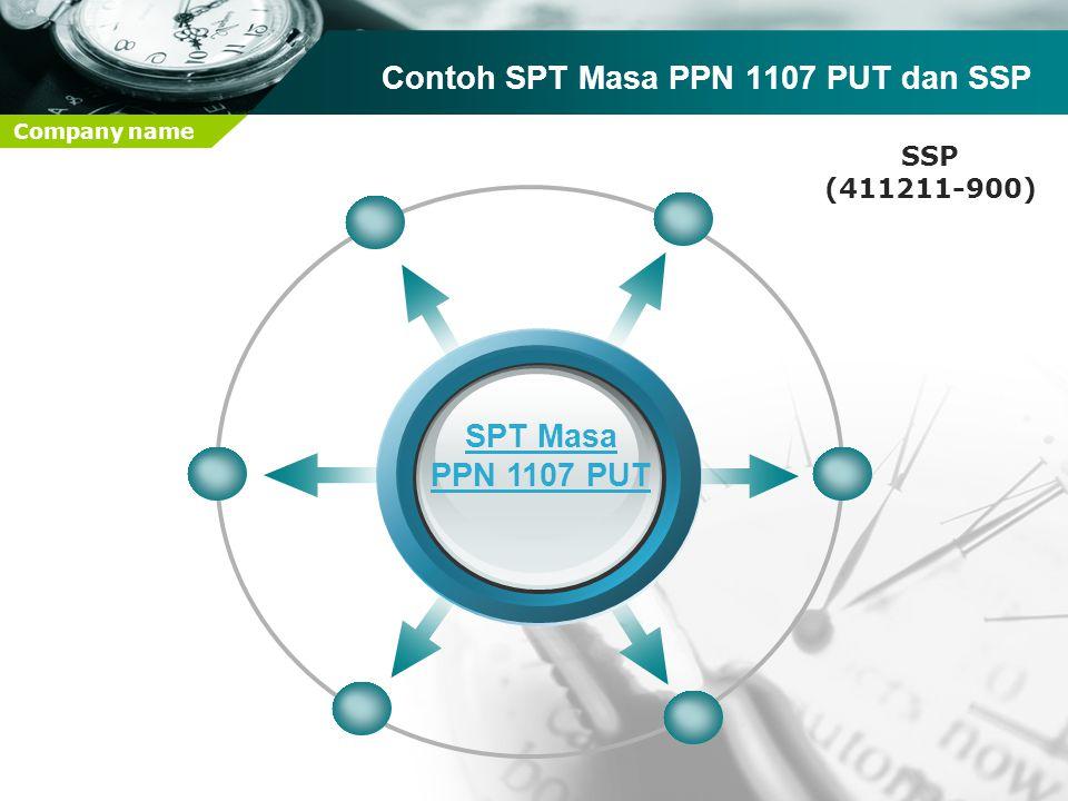 Contoh SPT Masa PPN 1107 PUT dan SSP