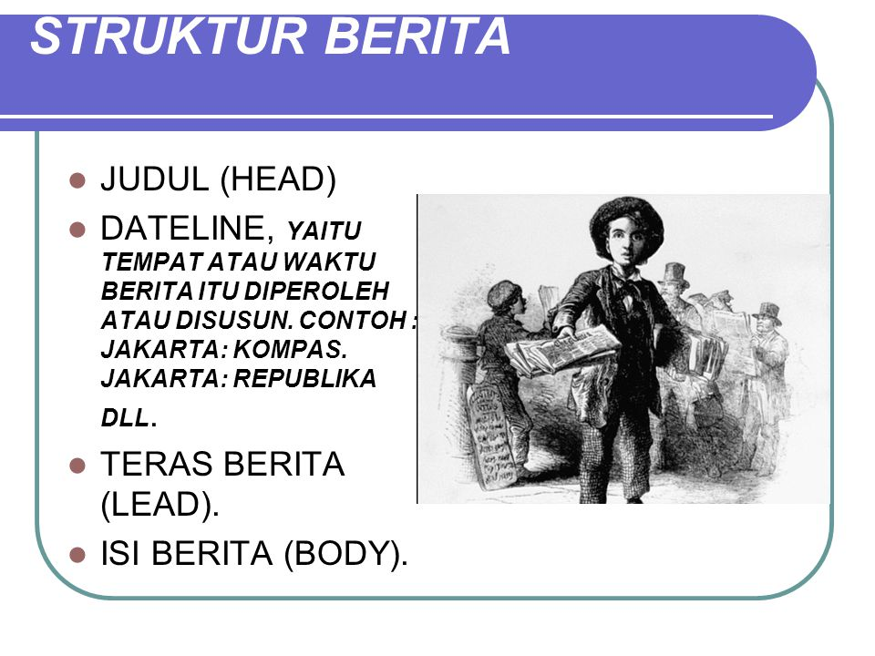 STRUKTUR BERITA JUDUL (HEAD)