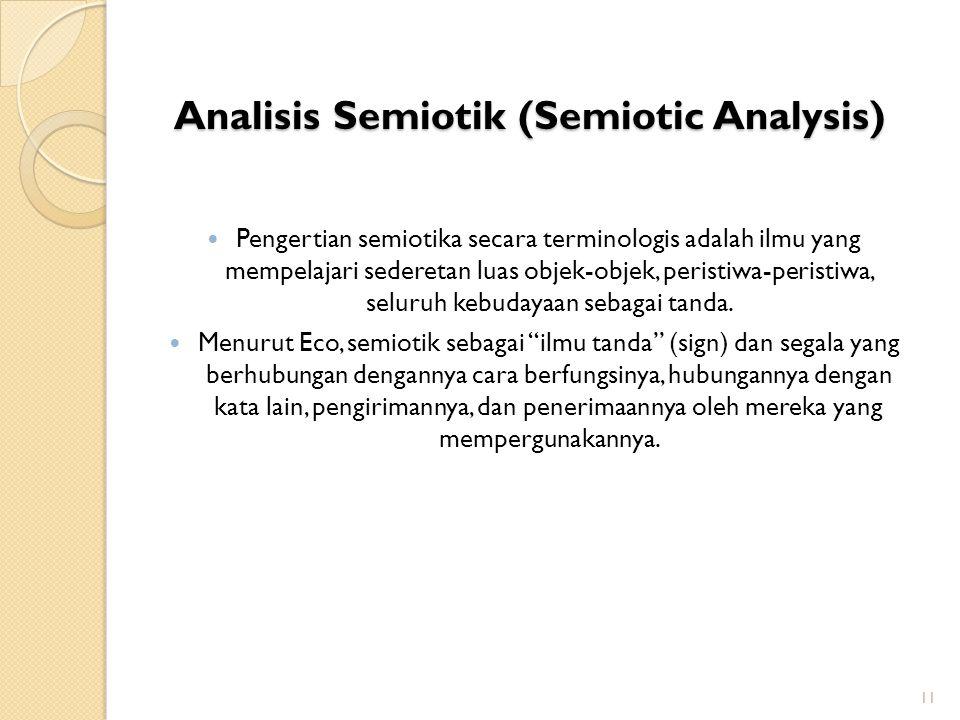 Analisis Semiotik (Semiotic Analysis)
