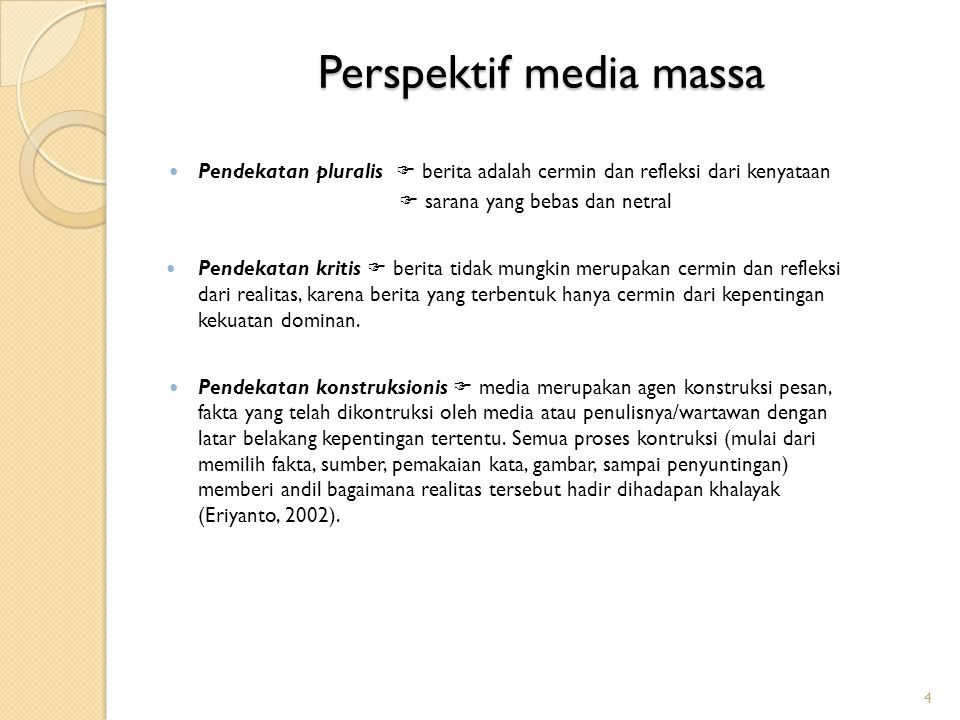 Perspektif media massa