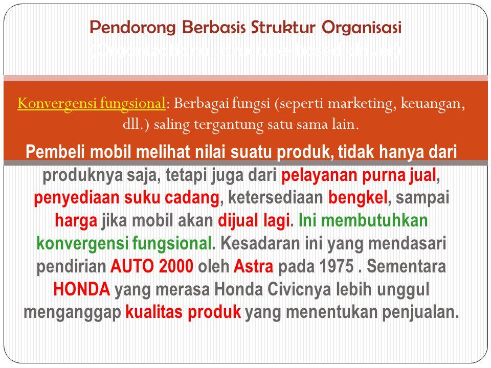 Pendorong Berbasis Struktur Organisasi (Organizational structure-based driver)