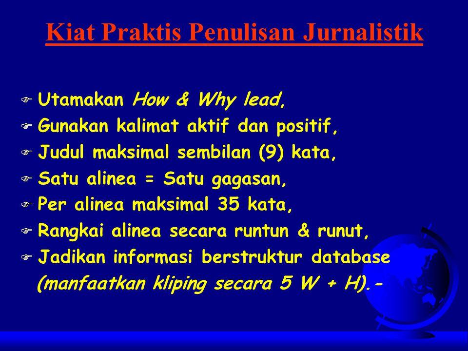 Kiat Praktis Penulisan Jurnalistik