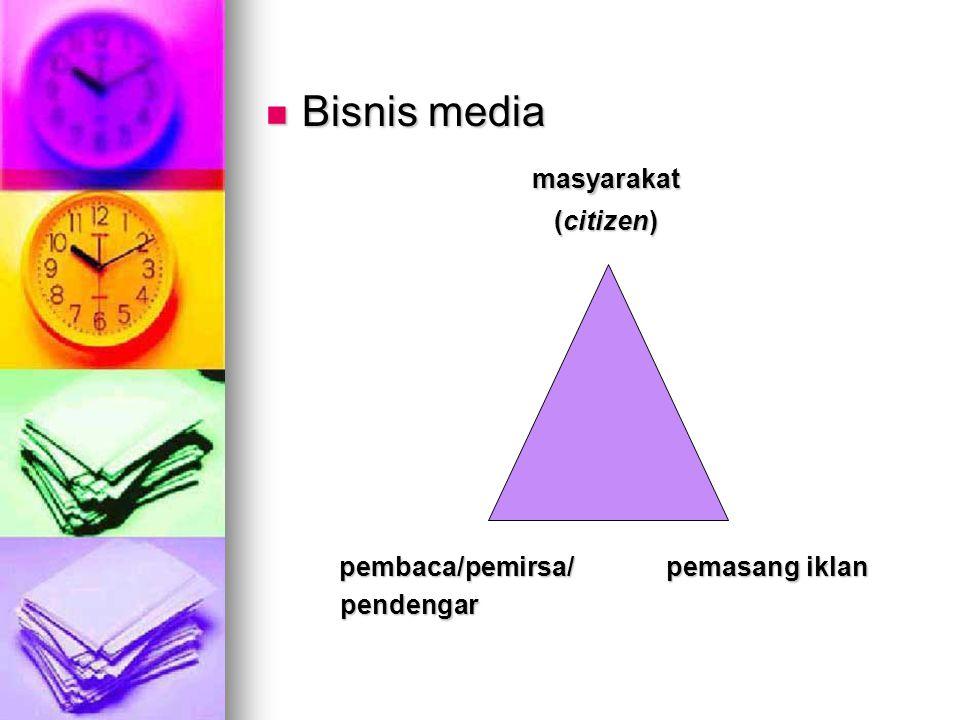 Bisnis media masyarakat (citizen) pembaca/pemirsa/ pemasang iklan