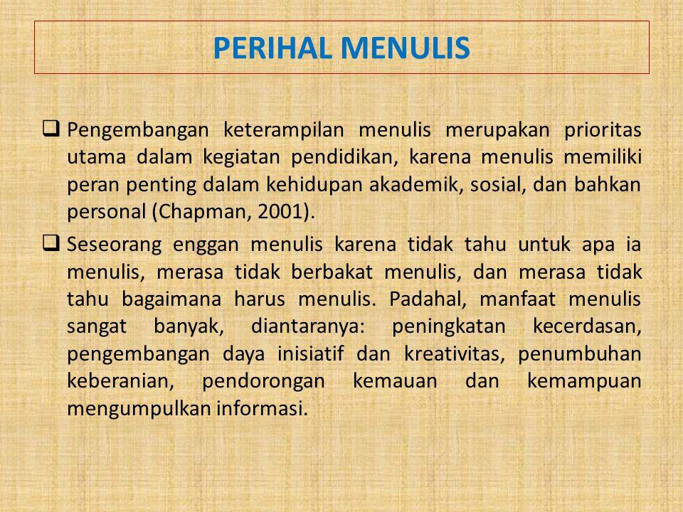 PERIHAL MENULIS