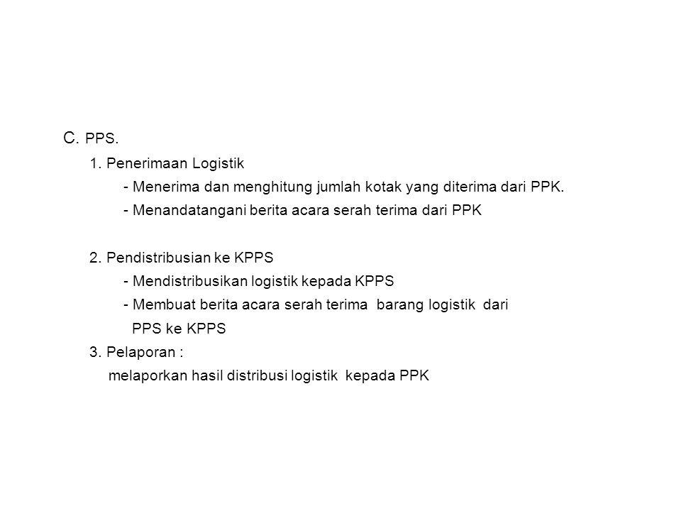 C. PPS. 1. Penerimaan Logistik