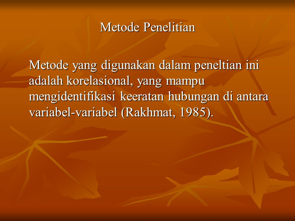 Metode Penelitian