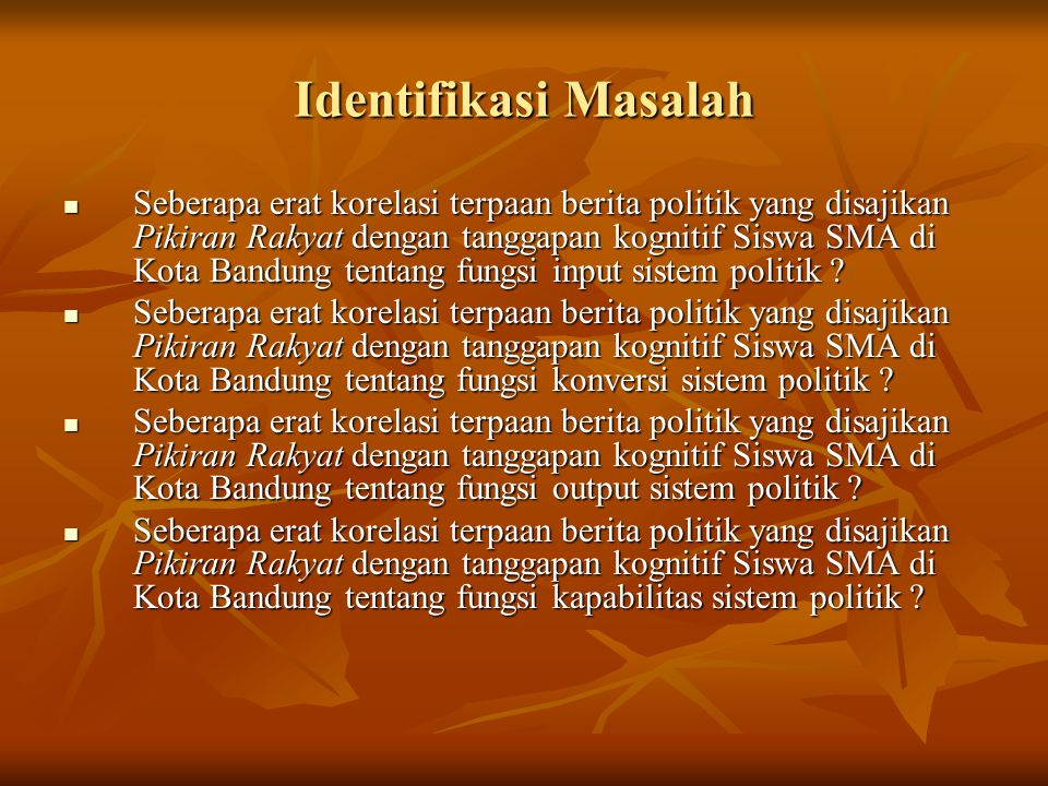 Identifikasi Masalah