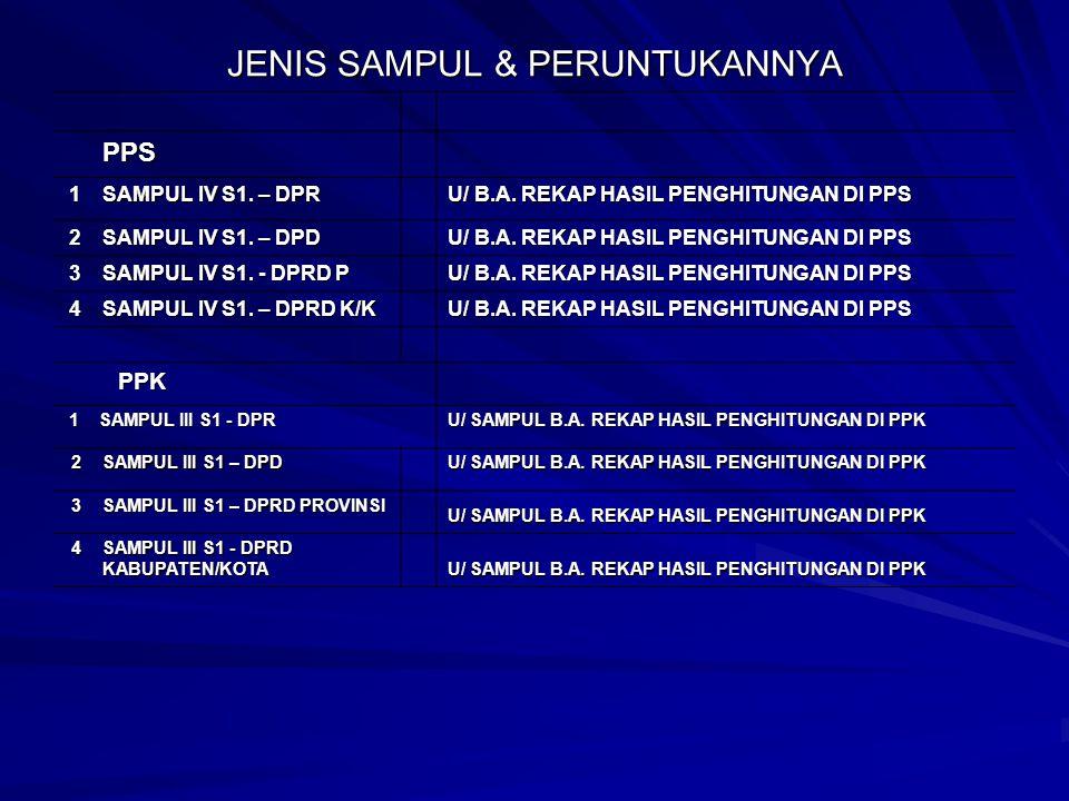 JENIS SAMPUL & PERUNTUKANNYA