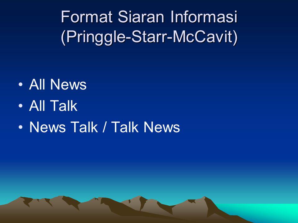 Format Siaran Informasi (Pringgle-Starr-McCavit)