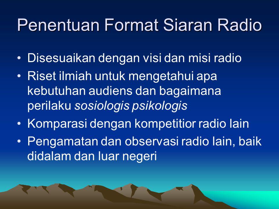 Penentuan Format Siaran Radio