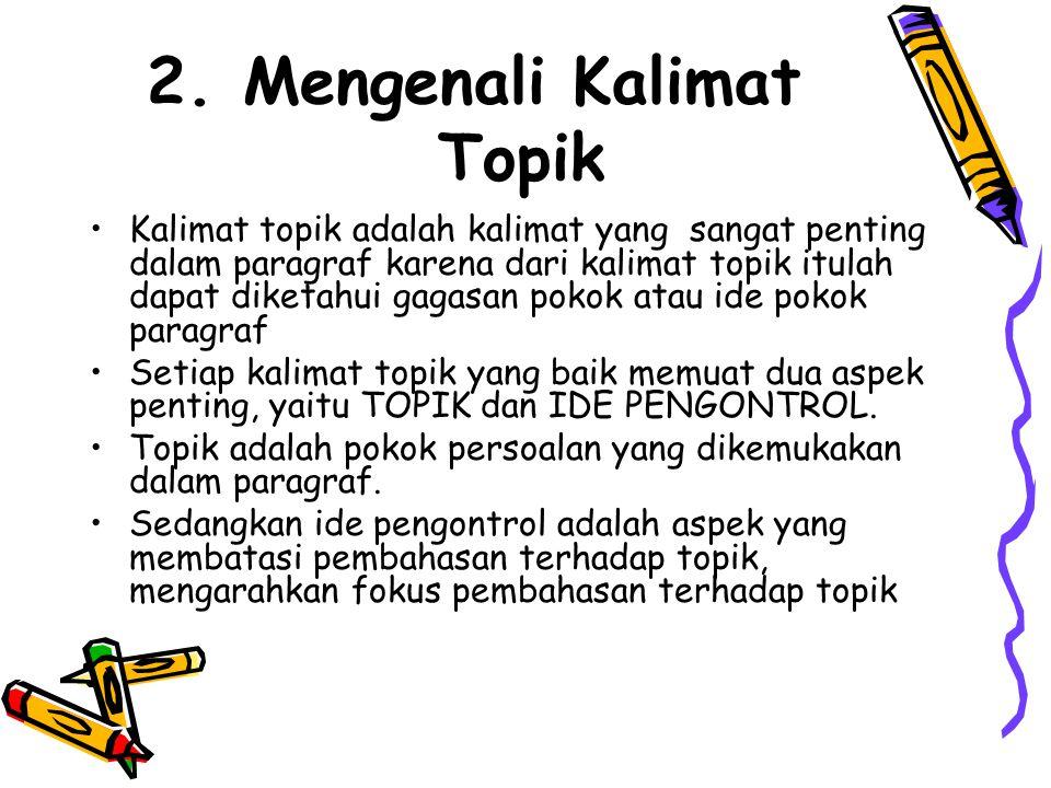 Mengenali Kalimat Topik